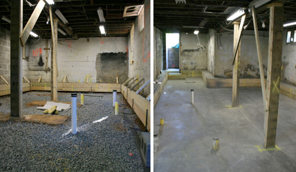 How to remodel a dark basement basement remodeling for Digging foundation for house