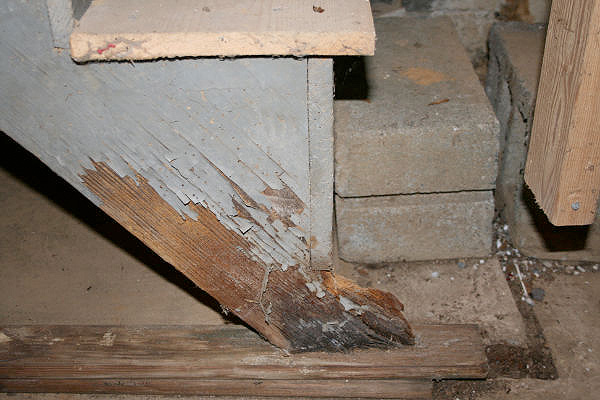 Rotted stairs