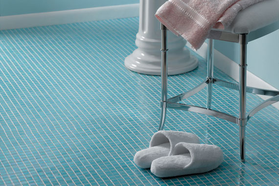 Bathroom Floor Tiles Blue : Bathroom flooring options green