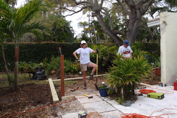Building the back yard deck