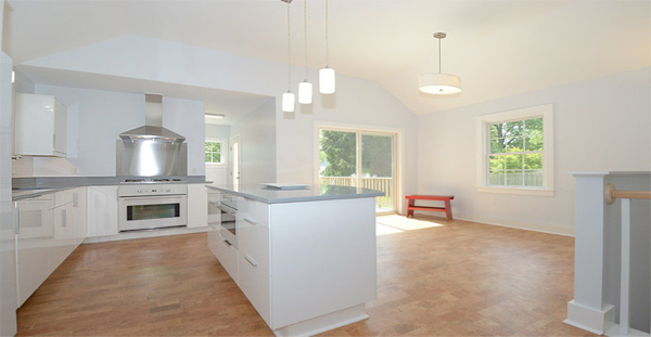 cork floor an amazing transformation of an outdated ugly kitchen   har com  rh   har com