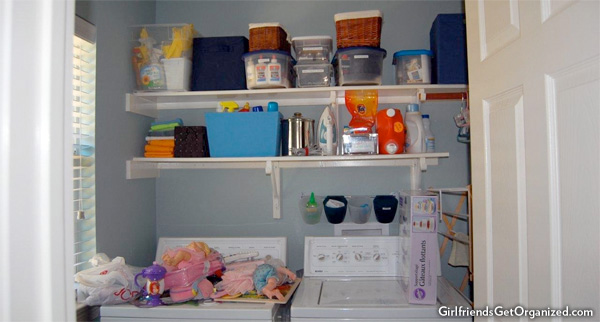 Shelves before