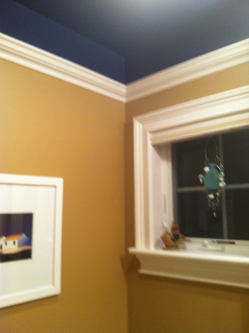 Crown molding ideas home improvement and remodeling tips for Bathroom 9 foot ceiling