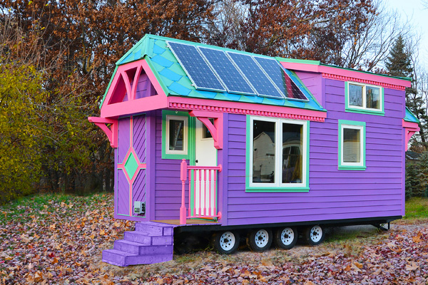 Rainbow tiny house on wheels | Creative Home Designs