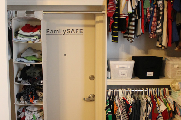 Tornado shelter in a home's closet | Creative Home D