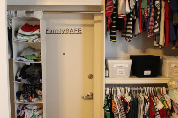 Tornado shelter in a home's closet | Creative Home D
