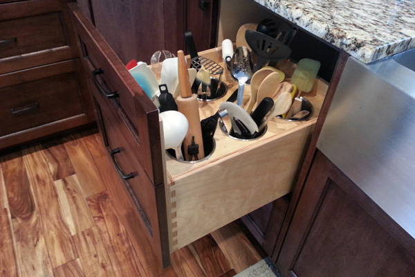 Creative storage kitchen drawers