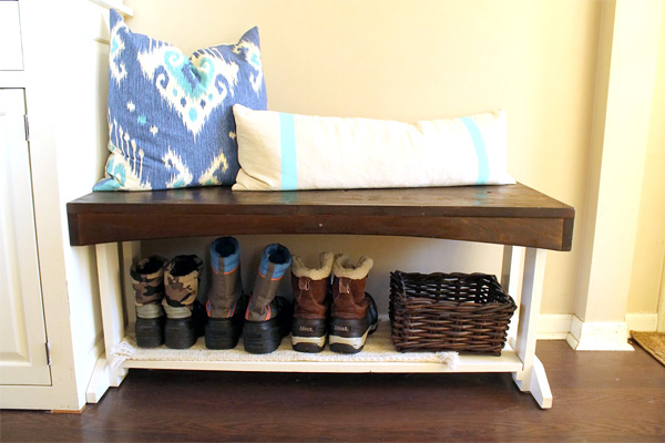 Bench with Boot Storage | Mudroom Ideas DIY