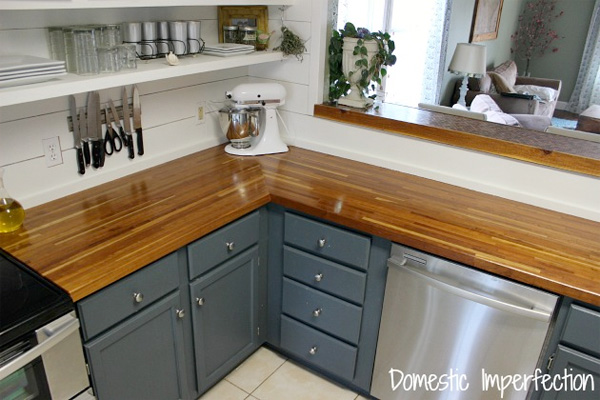 Diy kitchen ideas easy kitchen ideas houselogic How to install butcher block countertop