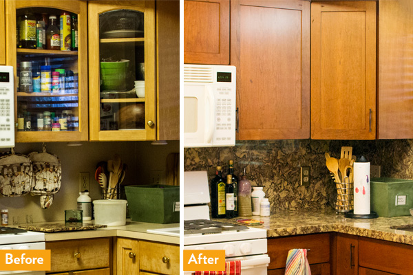 DIY kitchen remodel with refaced cabinets