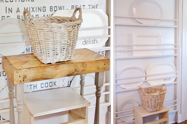 DIY plate rack to display oversize plates