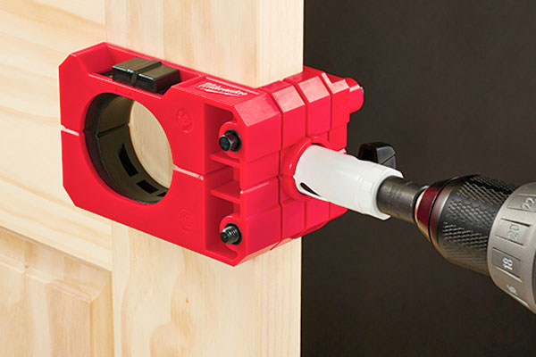 Milwaukee door lock install kit