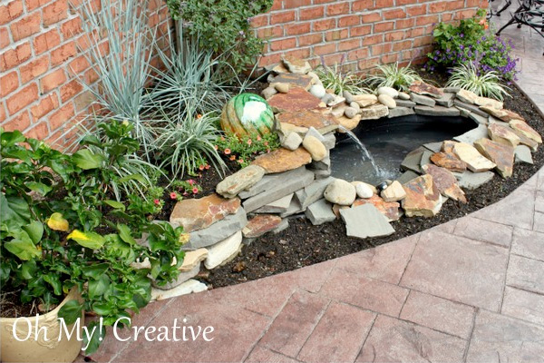 Home diy landscaping ideas do it yourself landscaping for Diy garden pond ideas