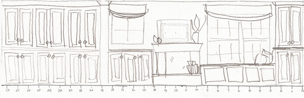 Family room sketch - Click for larger image