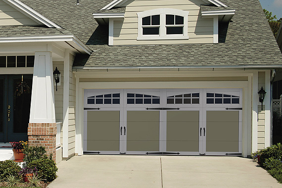 Choose the right style garage design ideas for house for Two car garage doors