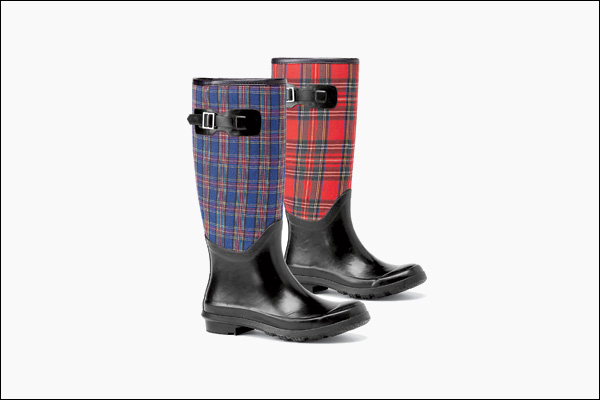 "Plaid boots"" /></p> <br />Gardeners can muck around in style with these tall, plaid <a class="