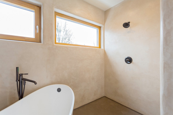 Bathroom with tadelakt plaster