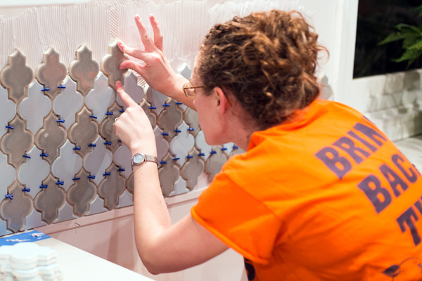 DIYing a tile backsplash in a home kitchen