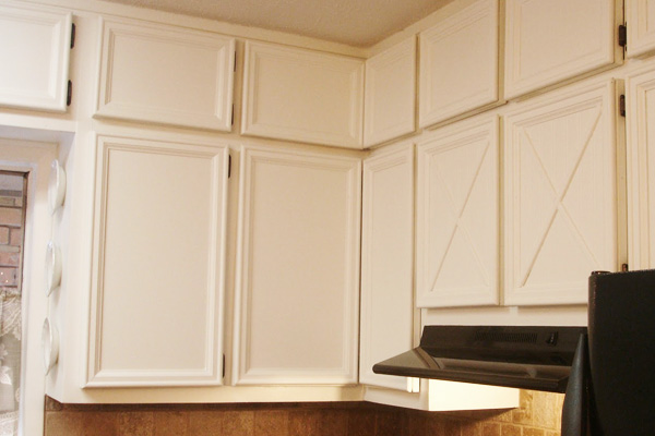 Cabinets with molding