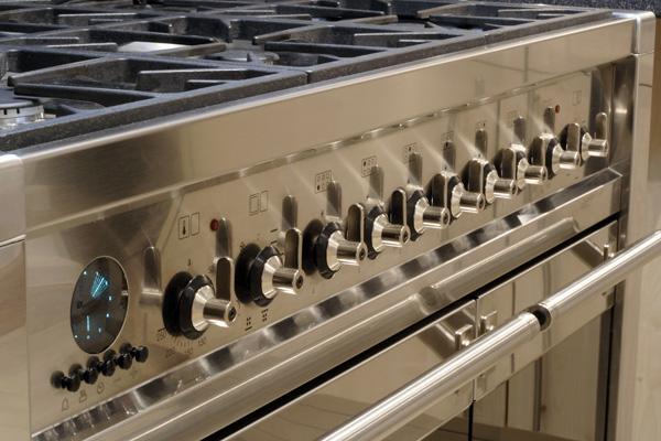 Luxury range in a home kitchen