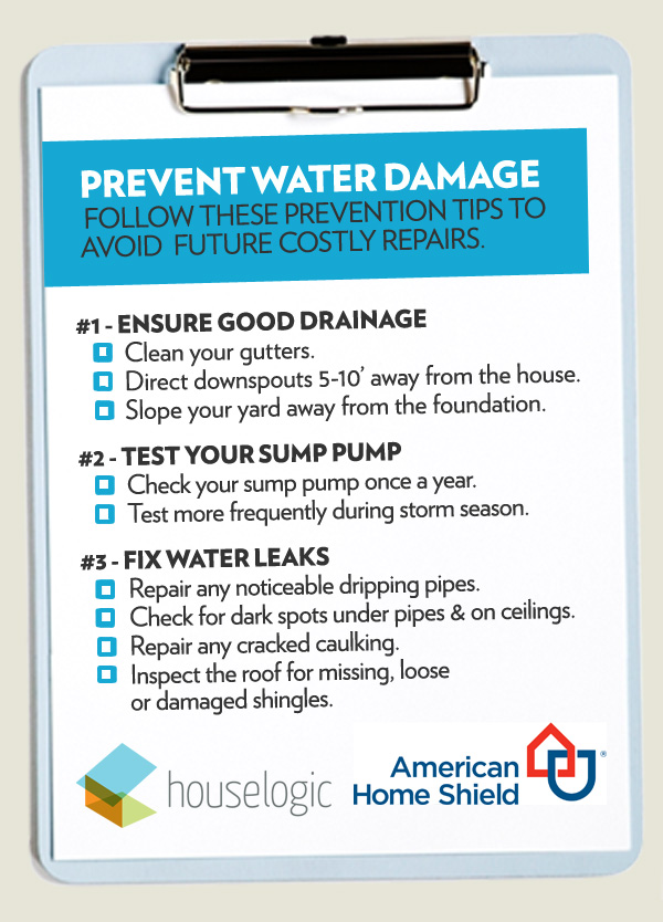 Water damage checklist