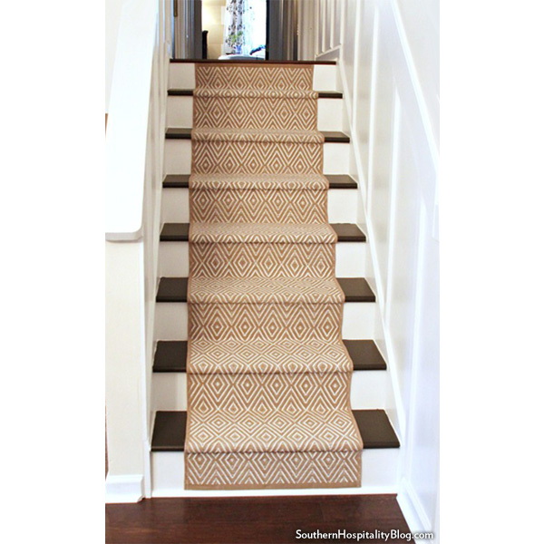Replacing carpet on stairs with wood Makeover final Result Houselogic Runner Shapes Up Tired Staircase