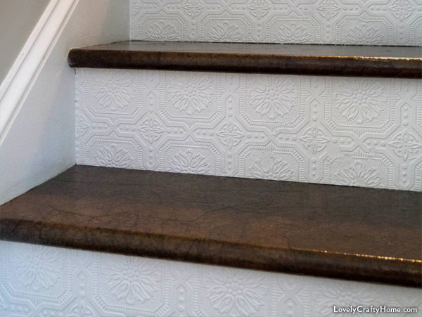 A Stairway Gets New Look Using Ordinary Brown Paper
