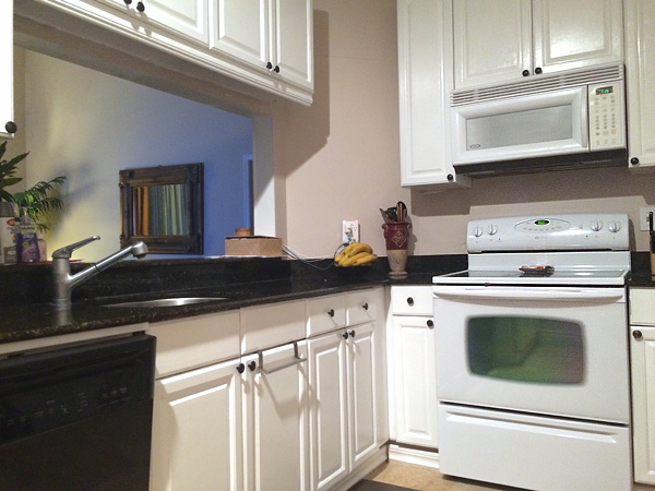 Chalk paint on a home's kitchen cabinets