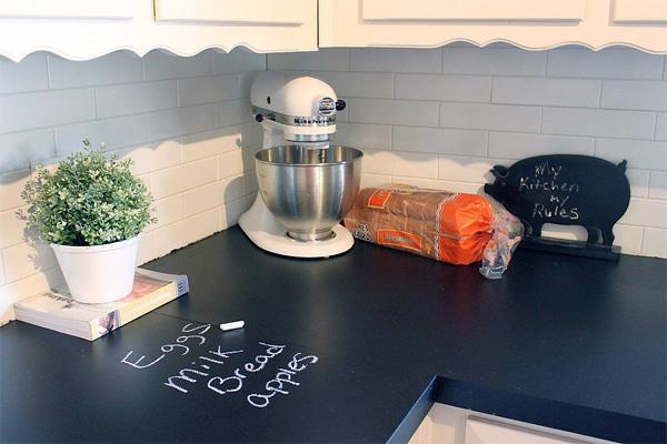 Kitchen paint ideas chalkboard countertops 381c4d964bbe34279aba6755e168fea2