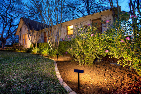 Outdoor lighting helps boost a home's curb appeal