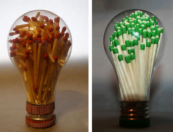 Clever craft ideas for repurposing light bulbs for Art and craft for kids from waste material
