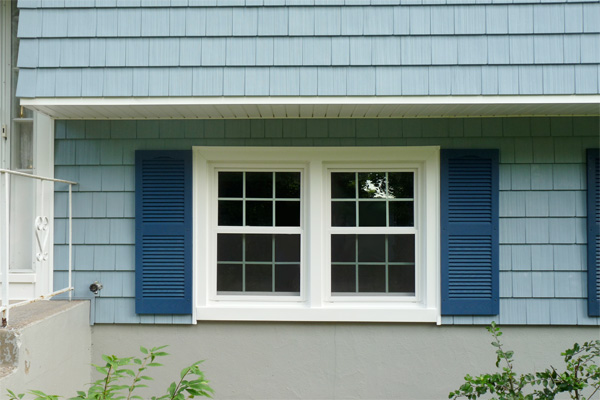 Vinyl shake siding on the exterior of a house