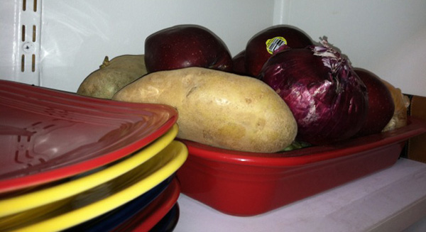Casserole dish storage