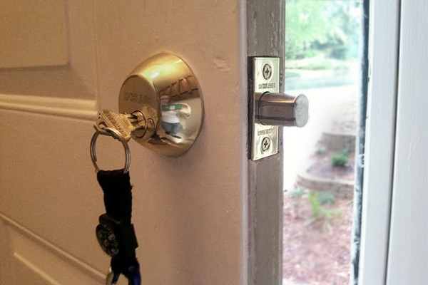 Changing locks on a new home