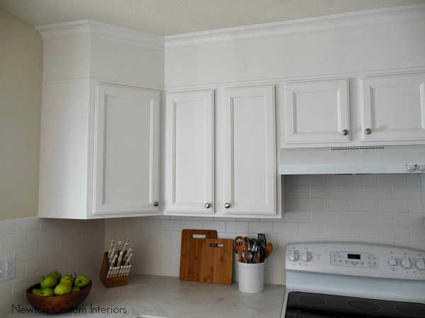 Awesome Kitchen cabinets painted white with soffits