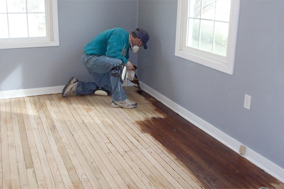How to refinish hardwood floors without sanding flooring for Wood floor refinishing