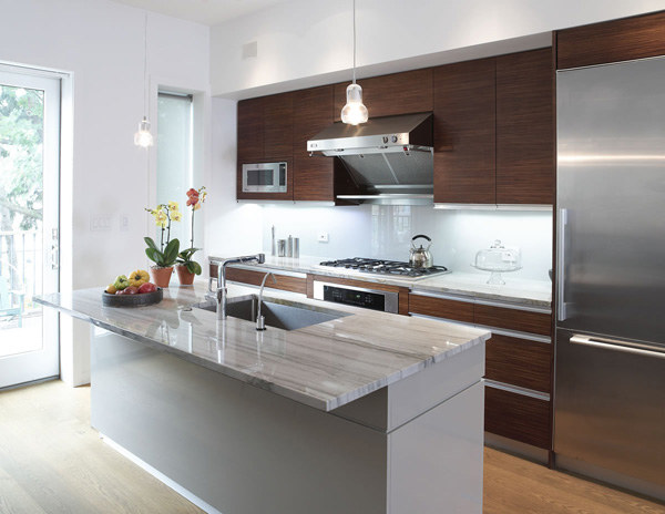 Remodeled kitchen in Brooklyn townhouse