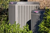 Lennox air conditioners outside house