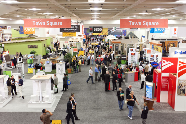 The floor of the Pacific Coast Builders Conference show