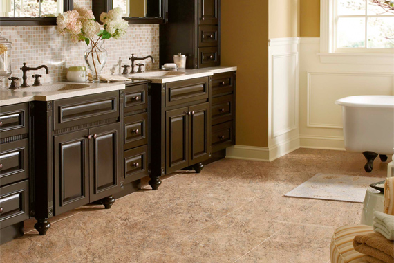 Bathroom flooring bathroom flooring options houselogic for Vinyl flooring bathroom