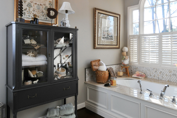 Free Standing Bathroom Shelving Ideas : Bathroom storage shelves solutions