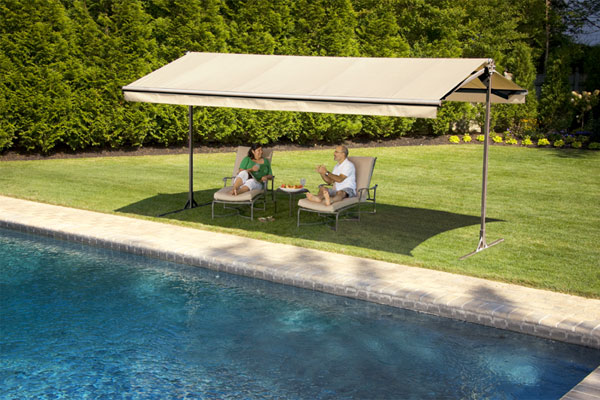 Portable Patio Awnings : Create shade options with awnings and trees outdoor living