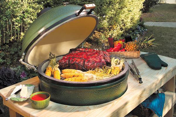 The Big Green Egg is a popular smoker