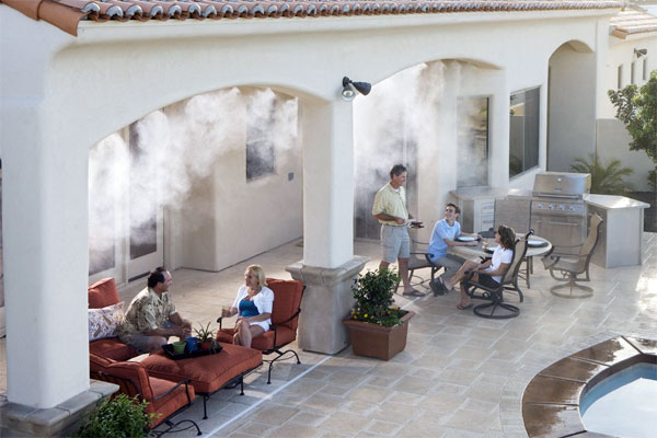 High-end patio misting system