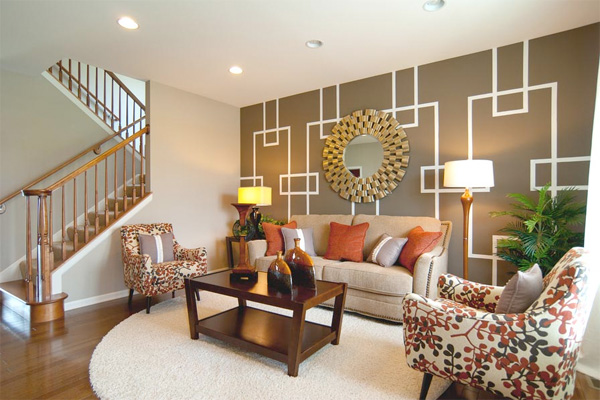 Living room in K. Hovnanian home The Fairfax
