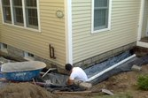 Contructing a French drain at a house