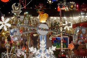 The lights at Norton's Winter Wonderland