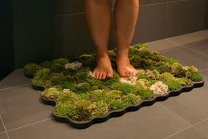 Moss carpet bathmat by Yanko Design