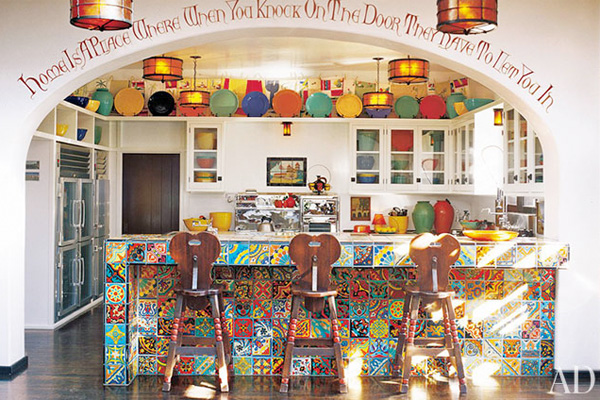 Diane Keaton's kitchen in Architectural Digest
