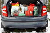 Christmas presents stored in the trunk